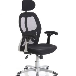 Sanderson Lite Black Executive Chair With Arms