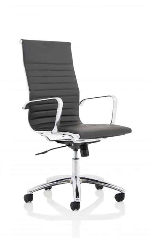 Fenn Black Faux Leather Executive Chair