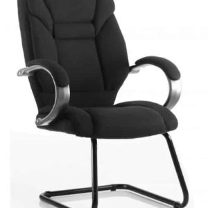 Galloway Cantilever Chair Black Fabric With Arms