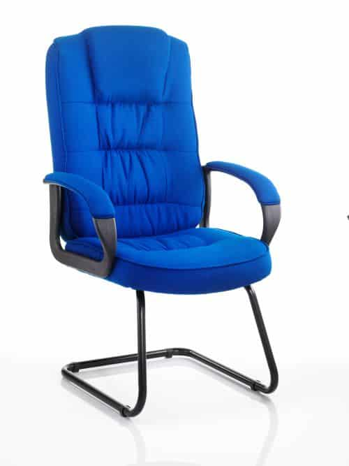Moore Visitor Cantilever Blue Fabric With Arms