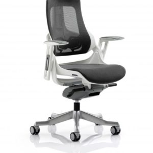 Zure Executive Chair Charcoal Mesh With Arms With Headrest
