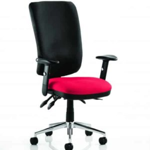 Chiro High Back Bespoke Colour Seat Bergamot Cherry