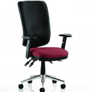 Chiro High Back Bespoke Colour Seat Gingseng Chilli