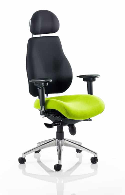Chiro Plus Ultimate With Headrest Bespoke Colour Seat Myrhh Green