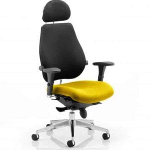 Chiro Plus Ultimate With Headrest Bespoke Colour Seat Senna Yellow