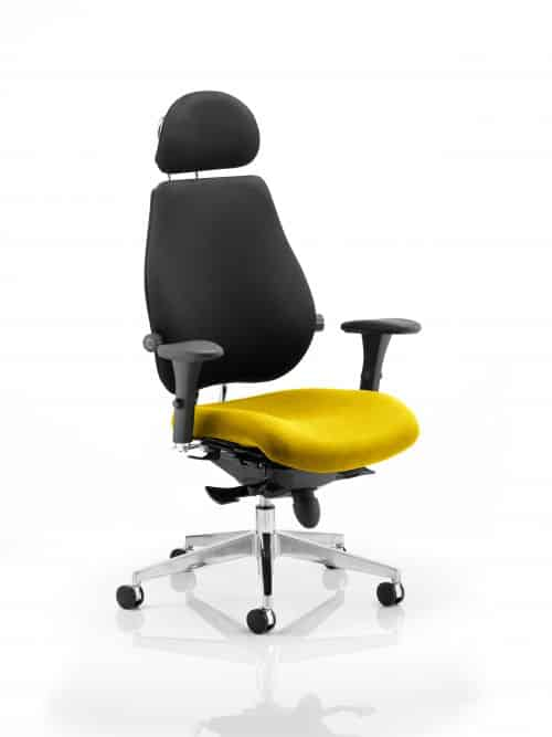 Chiro Plus Ultimate With Headrest Bespoke Colour Seat Senna Yellow