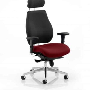 Chiro Plus Ultimate With Headrest Bespoke Colour Seat Gingseng Chilli