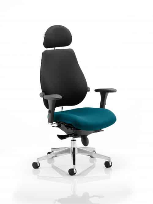 Chiro Plus Ultimate With Headrest Bespoke Colour Seat Maringa Teal