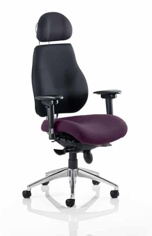 Chiro Plus Ultimate With Headrest Bespoke Colour Seat Tansy Purple