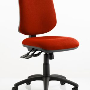 Eclipse XL Lever Task Operator Chair Bespoke Colour Tabasco Red