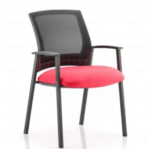 Metro Visitor Chair Bespoke Colour Seat Bergamot Cherry