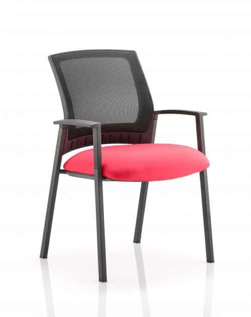 Metro Visitor Chair Bespoke Colour Seat Bergamot Cherry