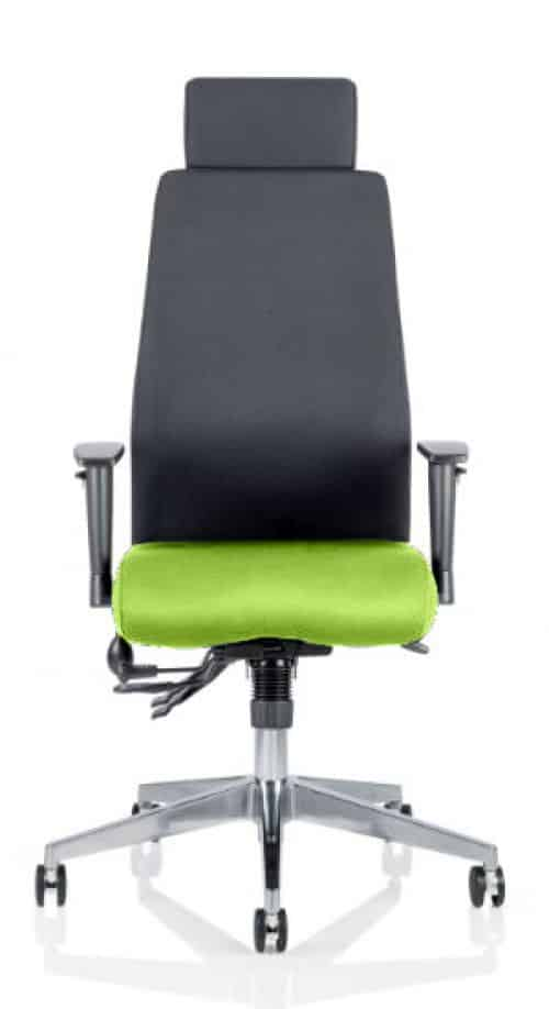 Onyx Bespoke Colour Seat With Headrest Myrhh Green