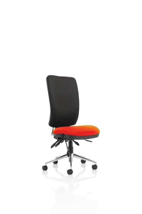 Chiro High Back Bespoke Colour Seat Tabasco Red No Arms