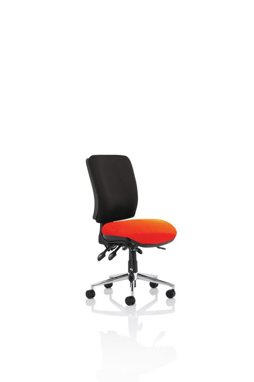 Chiro Medium Back Bespoke Colour Seat Tabasco Red No Arms