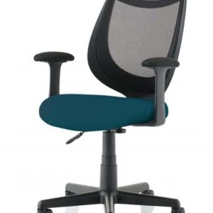Camden Black Mesh Chair in Maringa Teal