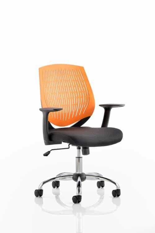 Dura Task Operator Chair Orange With Arms