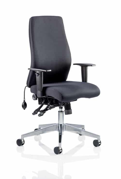 Onyx Ergo Posture Chair Black Fabric Without Headrest With Arms